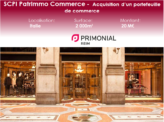 Patrimmo Commerce acquisition Italie