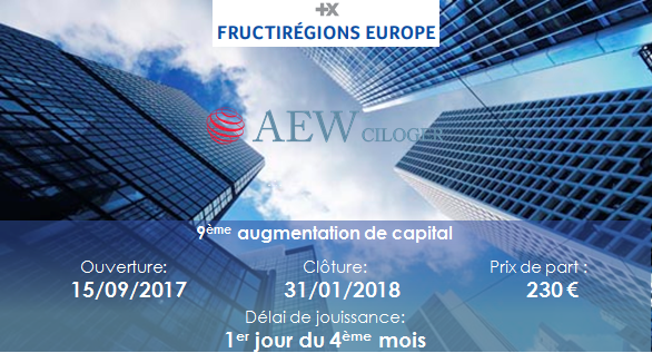 augmentation capital fructiregions europe 2017